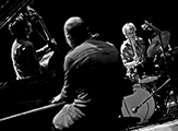 WHO trio - Michel Wintsch - Baenz Oester - Gerry Hemingway - Photo Credit - Juan Carlos Hernandez - JazzOnze+2013-3